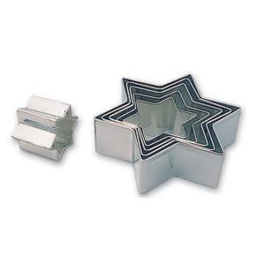 Boîte 6 découpoirs étoile 45/115