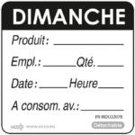 RL 500 ETIQUETTE DIMANCHE NOIR