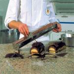 Raclette à bûche inox 122X80