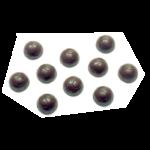 PLAQ.BALL FOOT 40EMP.D25 S/BPA