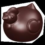 PLAQ. 9 PETITES COCOTTES CHOCO