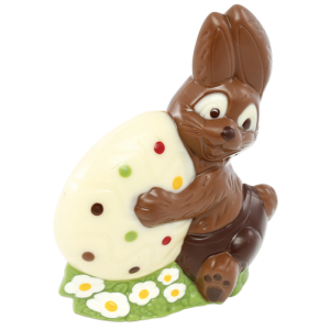 PLAQUE LAPIN OEUF 2 MOULES S/B
