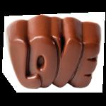 """PLAQUE 24 MOULES """"LOVE"""""""