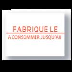 8X1750 ETIQ. DATE FAB/CONSO