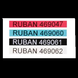 RUBAN DYMO NOIR/ROUGE 9MMX7M
