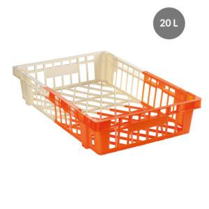 Caisse à viennoiseries bicolore 20 L – ivoire/orange