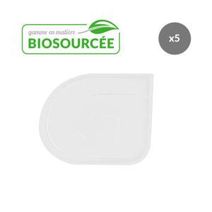 Corne de pâtisserie demi-ronde biosourcée – lot de 5 – blanc