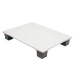 Demi palette agréée contact alimentaire 600 x 800 – blanc