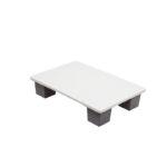 Quart palette agréée contact alimentaire 400 x 600 – blanc