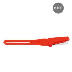 Scarificateur GILAME® jetable – lame droite – lot de 100