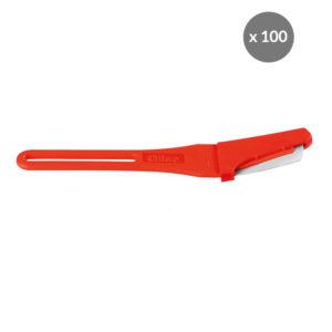 Scarificateur GILAME® jetable – lame courbée – lot de 100