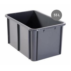 Bac rectangulaire 55 L – gris