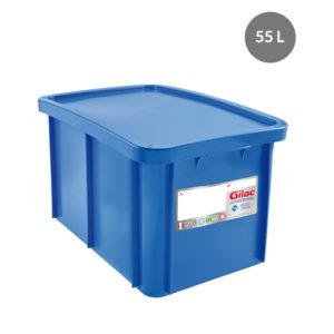 Bac 55 L antibactérien + couvercle – bleu ou rouge