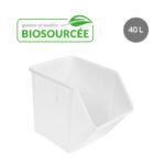 Bac à ingrédients biosourcé 40 L – blanc