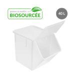 Couvercle biosourcé pour bac à ingrédients 40 L – blanc