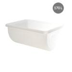 Bac grand volume semi-cylindrique 170 L – blanc
