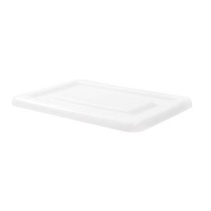 Couvercle pour bac grand volume semi-cylindrique 170 L/220 L – blanc