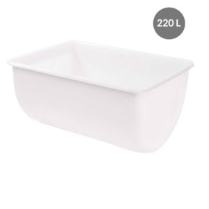 Bac grand volume semi-cylindrique 220 L – Blanc