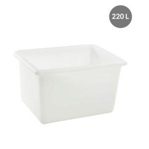Bac grand volume 220 L – blanc