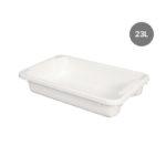 Bac renforcé rectangulaire empilable emboîtable 23 L – blanc