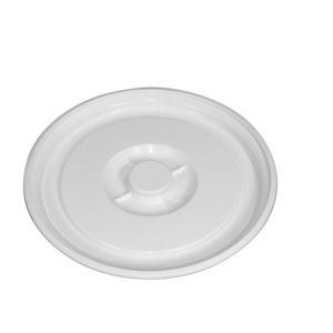 Couvercle pour conteneur alimentaire 50 L avec poignées noires – blanc