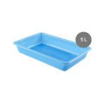 Bac plat 5 L – bleu