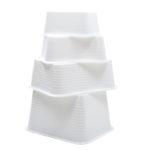 Bac rectangulaire renforcé emboîtable 30 L – blanc