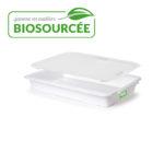 Couvercle biosourcé pour bac à diviseuse 600 x 400 – 13 L – blanc