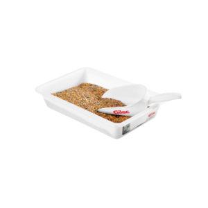 Bac plat 3, 5 ou 8 litres HACCP couleur + couvercle + grille
