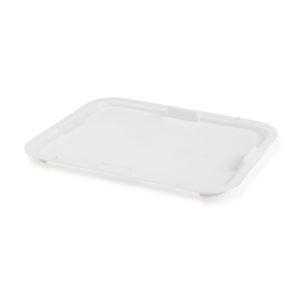 Couvercle pour bacs à diviseuse 10 L/20 L – blanc
