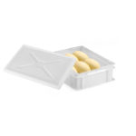 Couvercle pour demi bac à pâtons 400 x 300 – blanc