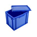 Bac plein 400 x 300 27 L + couvercle – bleu