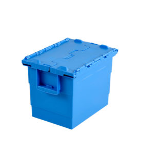 Bac 400 x 300 25 L avec couvercle intégré – bleu
