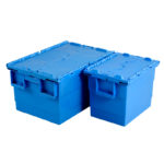 Bac 600 x 400 55 L avec couvercle intégré – bleu