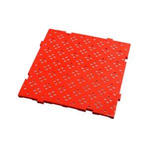 Caillebotis HACCP 50 x 50 cm, épaisseur 22 mm – rouge