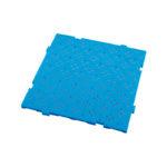 Caillebotis HACCP 50 x 50 cm, épaisseur 22 mm – bleu