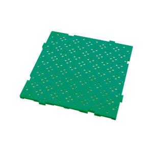 Caillebotis HACCP 50 x 50 cm, épaisseur 22 mm – vert
