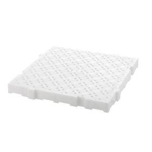 Caillebotis 50 x 50 cm, épaisseur 50 mm – blanc