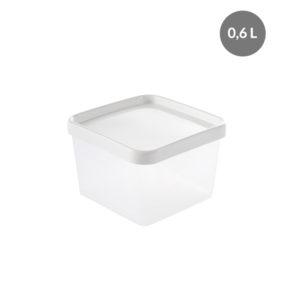 Boîte hermétique 0,6 L + couvercle – transparent