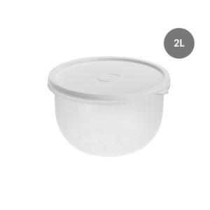 Boîte hermétique ronde 2 L – transparente