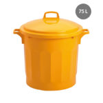 Conteneur alimentaire rond HACCP 75 L – jaune