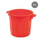 Conteneur alimentaire rond HACCP 75 L – rouge