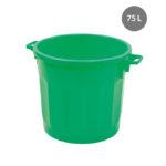 Conteneur alimentaire rond HACCP 75 L – vert