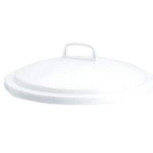 Couvercle avec poignée pour conteneur alimentaire rond HACCP 75 L – blanc