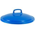 Couvercle avec poignée pour conteneur alimentaire rond HACCP 75 L – bleu