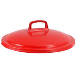 Couvercle avec poignée pour conteneur alimentaire rond HACCP 75 L – rouge