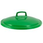 Couvercle avec poignée pour poubelle ronde tri sélectif 75 L – vert