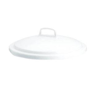 Couvercle avec poignée pour conteneur alimentaire rond HACCP 50 L – blanc