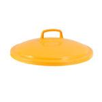 Couvercle avec poignée pour conteneur alimentaire rond HACCP 50 L – jaune