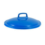 Couvercle avec poignée pour conteneur alimentaire rond HACCP 50 L – bleu